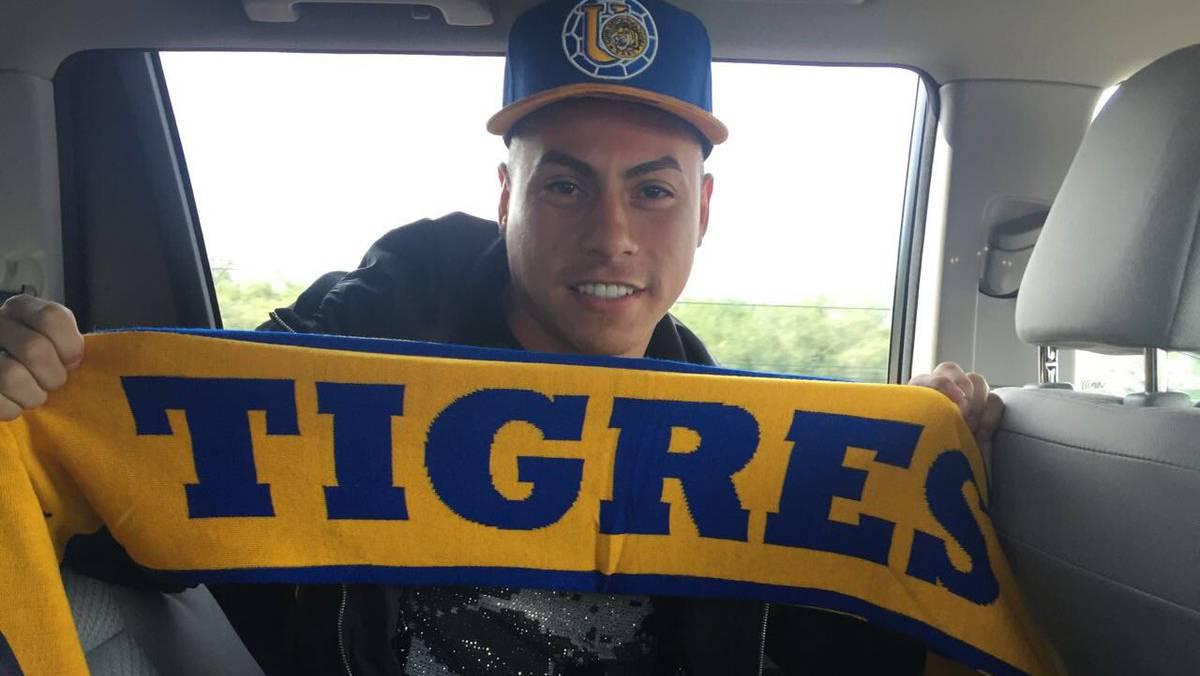 Edu Vargas arriba a México para cerrar su traspaso a Tigres - AS México 0702d3b9cf5
