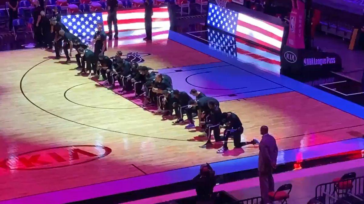 Ver vídeo / El gesto de los jugadores de Celtics y Heat contra el asalto al Congreso de Estados Unidos