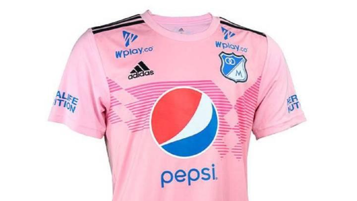 sátira izquierda por supuesto  Millonarios lanza su nueva camiseta rosada - AS Colombia