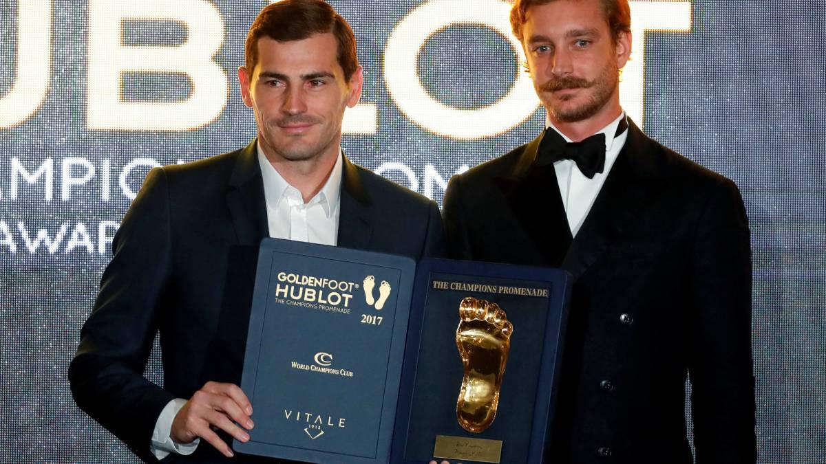 Iker Casillas ganó el Golden Foot 2017