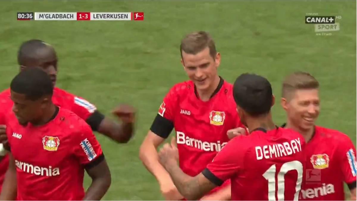 Ver vídeo / Resumen y goles del Borussia Mönchedgladbac vs Bayer Leverkusen de la Bundesliga