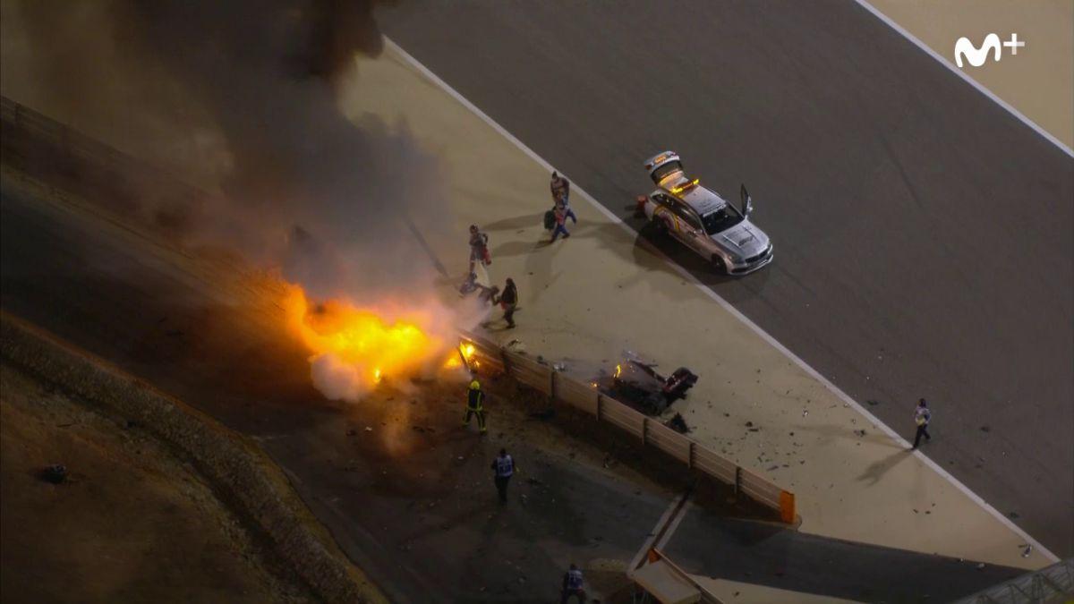 Ver vídeo / Las imágenes del tremendo accidente de Grosjean